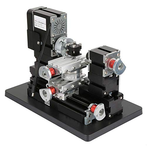 Sale!! Mini Metal Rotating Lathe,60W 12000RPM Mini High Power Miniature Metal Rotating Lathe for Woo...