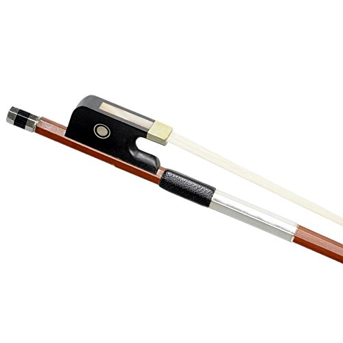 ADM 4/4 Full Size Brazilwood Octagonal Horse Hair Cello Bow, Well Balanced for Beginner and Students