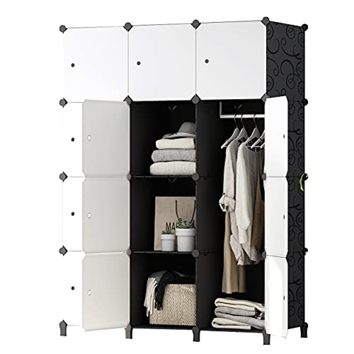 JOISCOPE Portable Closet Wardrobe Storage Organizer Cube for Hanging Clothes,Bedroom...