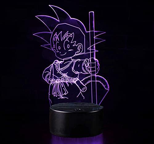 3D Illusion Nuit Lumière Win-Y LED Bureau Table Lampe 7 Couleur Tactile Lampe Maison Chambre Bureau Décor pour Enfants D'anniversaire De Noël Cadeau (Dragon Ball B)