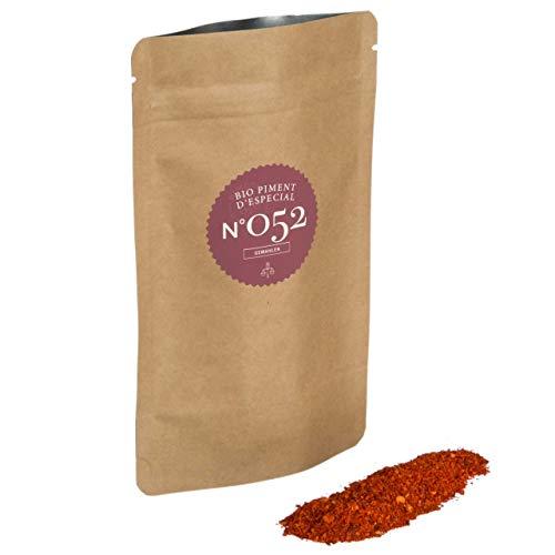 Rimoco N°052 Bio Piment d`Especial - Das Original Chilipulver aus dem baskischen Espelette | fruchtig, würzig, pikant mit milder Schärfe | in Kraftpapier Zip Frische-Beutel | Inhalt: 70g