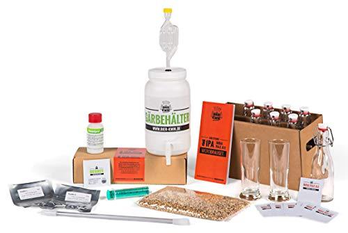 Bier Kwik Microbrauset IPA - Bier Selber brauen in der Küchenmaschine/Bierbrauset mit Frischen Zutaten Ohne Extrakte/Geschenkidee für Männer