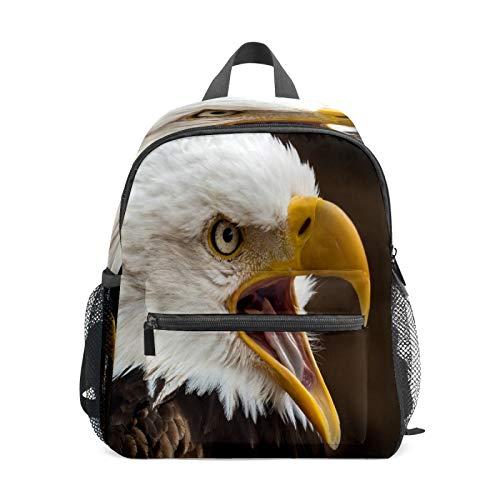 Mochila infantil para niños de 1 a 6 años de edad, mochila perfecta para niños y niñas en el jardín de infantes, águila, búho, animal salvaje