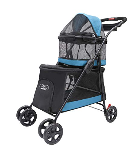 Best Stroller For Traveling PETIQUE Pet & Pets Double Decker Pet Stroller