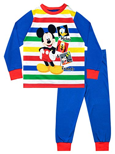 Disney Pijamas Manga Larga niños Mickey Mouse Azul