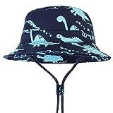 LAPOPNUT Chapeau de Enfant Chapeau de Soleil Anti-UV en Coton Bébé Enfant Garçon Bob de...