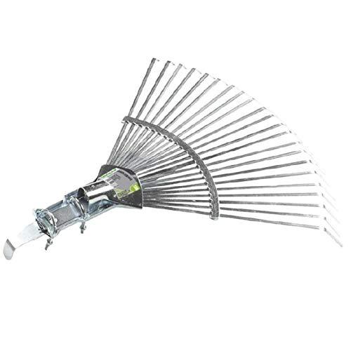 Verdemax 392222Denti rastrello in Metallo con connessione a terminali per Erba e Foglie