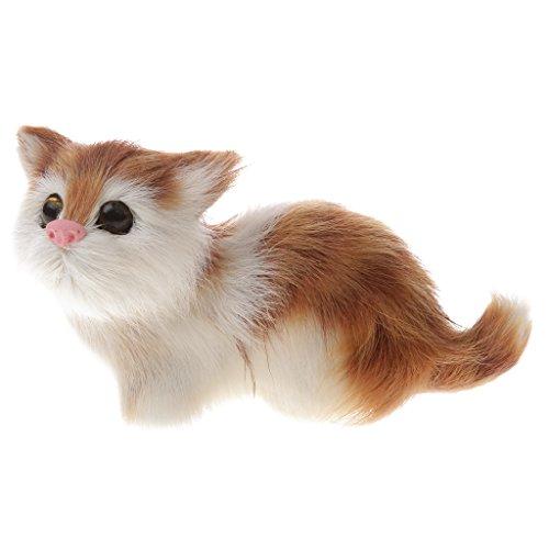 Schöne Lebensecht Katze Echtes Fell Pelztier Home Decor Kinder Geschenke - Katze 03