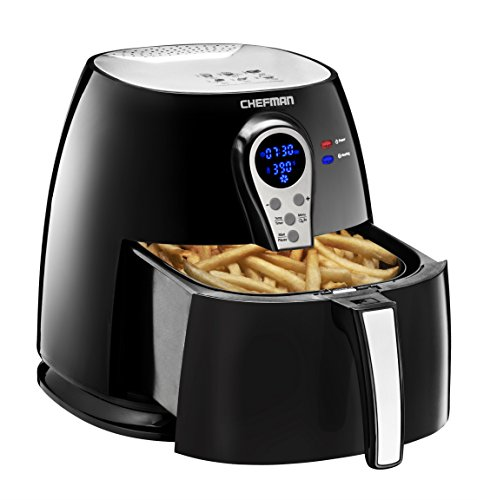 Chefman 2.5 Liter/2.6 Quart Air Fryer with Digital Display Adjustable Temperature Control for the Perfect Result in Frying a Variety of Foods, BPA Free, Cool-to-Touch Exterior