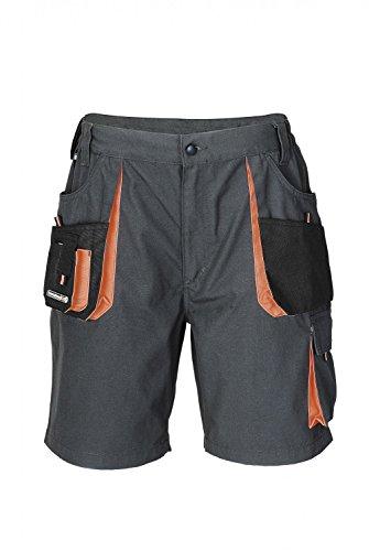 Herren Shorts dunkelgrau/schwarz/orange Größe 56