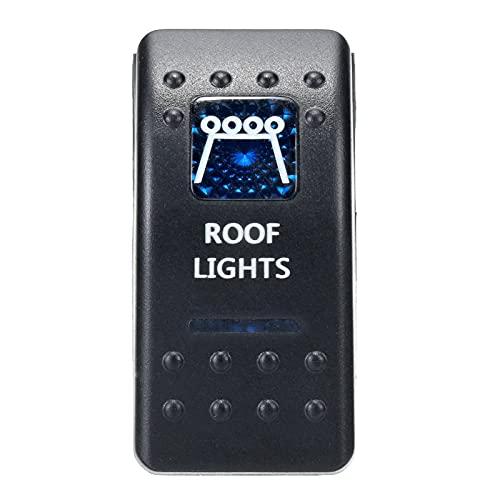 Hardware de mejoras para el hogar 1 UNIDS 12V 24V BARCO DE COCHES CARAVAN MOQUEZA Cambia el interruptor de Rocker impermeable Dual Barra de luz LED azul 4x4 accesorios de hardware ( Color : Blue1 )