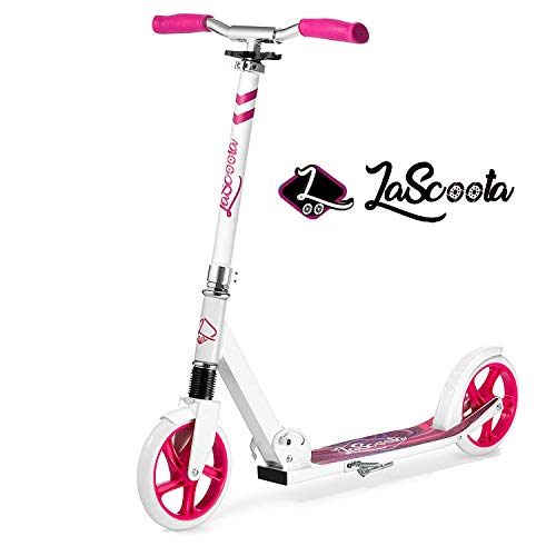 Best Prices! Lascoota Scooters for Kids 8 Years and up - Quick-Release Folding System - Dual Suspens...