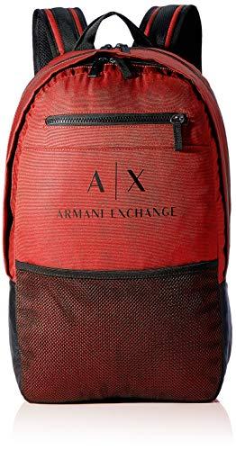 Armani Exchange Urban Tech Backpack, Mochila. para Hombre, rojo, Einheitsgröße