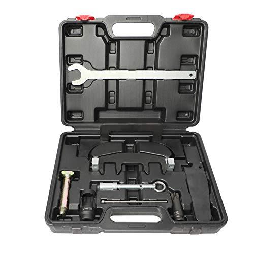 DPTOOL M271 Camshaft Adjuster Timing Chain Tool Kit Fuel Injector Remover Installer Set Compatible with Mercedes Benz M271 CLK SLK CLC C200 C180 E200 E260 SLK200