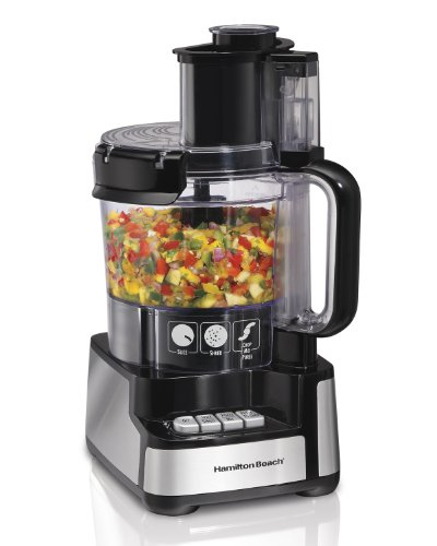 Hamilton Beach 12-Cup Stack &Amp; Snap Food Processor With Big Mo Home Good - Black/Stainless Steel