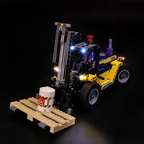 LIGHTAILING Licht-Set Für (Technic Schwerlast-Gabelstapler) Modell - LED Licht-Set Kompatibel Mit Lego 42079(Modell Nicht Enthalten)
