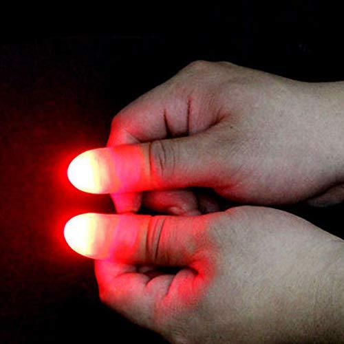 VANTIYAUS Finger Lamp (2 Packs/4PCS) Thumbs Lamp, Magic Lamp up Finger Magic Trick, Fake Finger, Prank Toy Tool for Halloween
