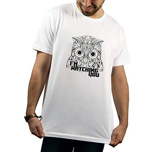 SUPERMOLON Camiseta Unisex I'm Watching You Modelo Básica