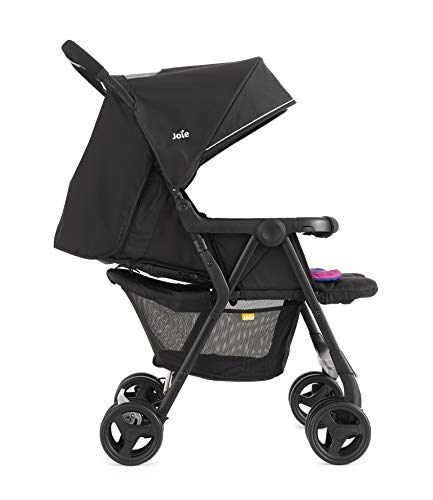 Joie Aire Twin Stroller - Pink/Blue Joie Weight 11.6kg. Max child weight 15kg. Age suitability: from birth to 3 years. 2