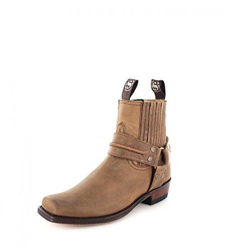 Sendra Boots 2746 Sprinter Tang Lederstiefelette für Damen und Herren Braun Bikerstiefelette, Groesse:36
