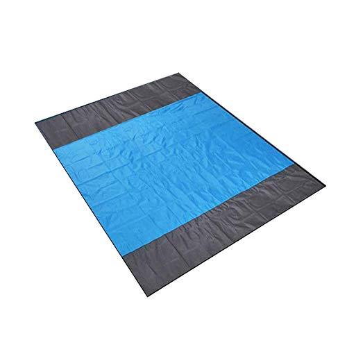 Lanceasy zand free beach-mat extra grote waterdichte dekenmat voor buitenshuis picknickdeken tapijt matras (210x200cm)