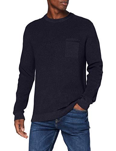Esprit Herren 080EE2I301 Pullover, 400/NAVY, Medium