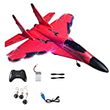 QYIYA 2.4g Glider RC Drone 530 Fixed Wing Airplane Hand Throwing Foam Electric Remote, Red