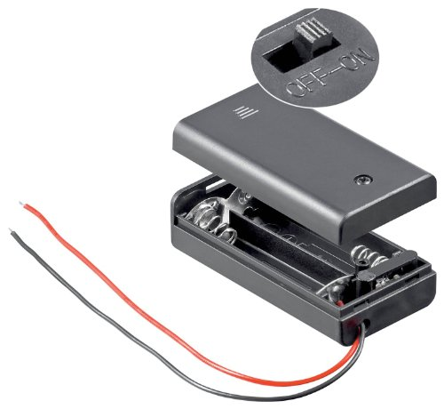 10 Stück, Batteriehalter, 2xmignon 'AA', geschlossenes Gehäuse