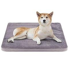 JoicyCo ペットベッド 犬ベッド クッション性抜群 足腰・関節にやさしい 老犬に 子犬 暖かい 丁度いい厚さ カバーだけ洗う 清掃しやすい 多頭飼い 滑り止め 型崩れしない 通年使える 80*65*5cm(グレー M)