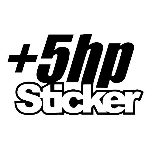 BLOUR Dawasaru +5 HP Autoaufkleber Personalisierte Abdeckung Kratzabziehbilder LKW Laptop Motorräder Autozubehör Dekoration PVC, 12 cm * 7 cm