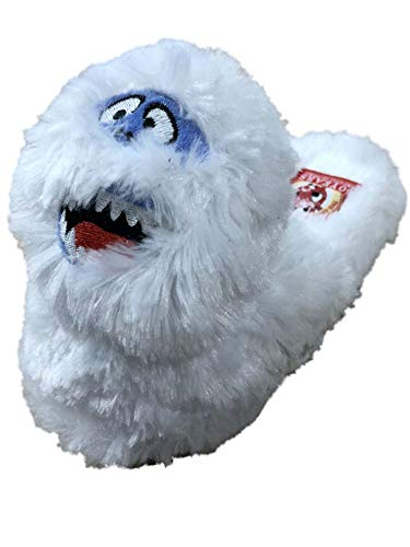 Rudolph Boys Plush White Bumble Abominable Snowman House Shoes Yeti Scuffs 11-12