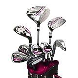 PowerBilt New Lady Pro Power Complete Golf Set 2020 Magenta Graphite +1'