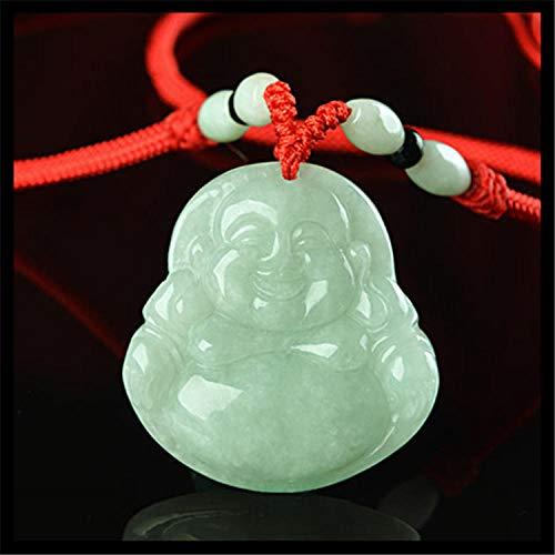 SanQ-Seven Maitreya Pendants Natural Amber Jade Ice Necklaces
