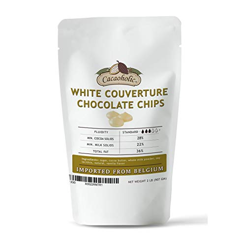 White Couverture Chocolate Chips | 28% Cocoa