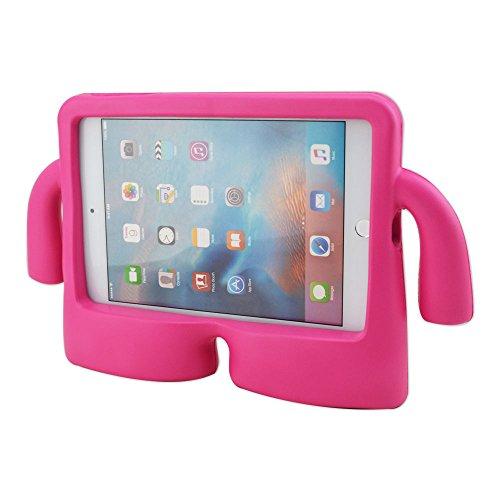 Rosa IBuy 3d niño Friendly libre de pie para niños parte trasera y carcasa con fácil de transportar ligero espuma asas de transporte para Apple iPad Mini 1/2/3/4