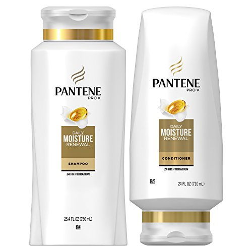 Pantene Moisturizing Shampoo and Conditioner for Dry Hair, Daily Moisture Renewal, Bundle Pack, 1...