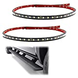 iJDMTOY (2) 40-Inch 63-SMD Flexible LED Running Board/Side Step Lighting Kit Compatible with Ford GMC Chevy Dodge Toyota Nissan Honda Truck SUV, Xenon White