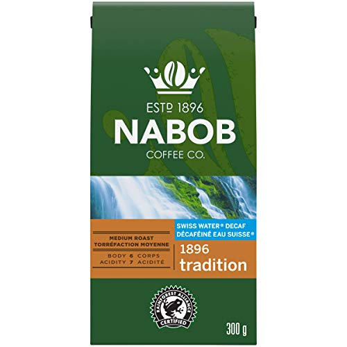 Nabob 1896 Tradition Ground Decaffeinated Coffee, 300g (Pack of 6)