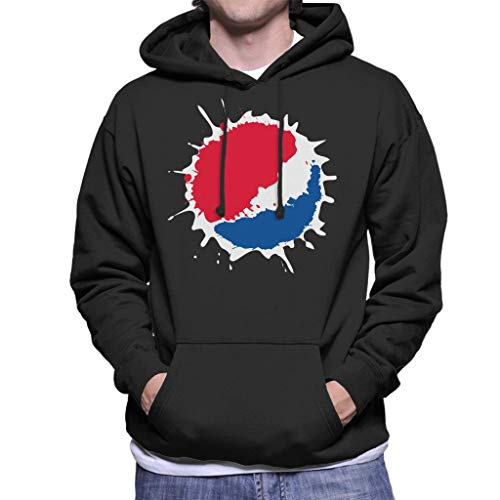 Pepsi Splash Logo Men's Hooded Sweatshirt