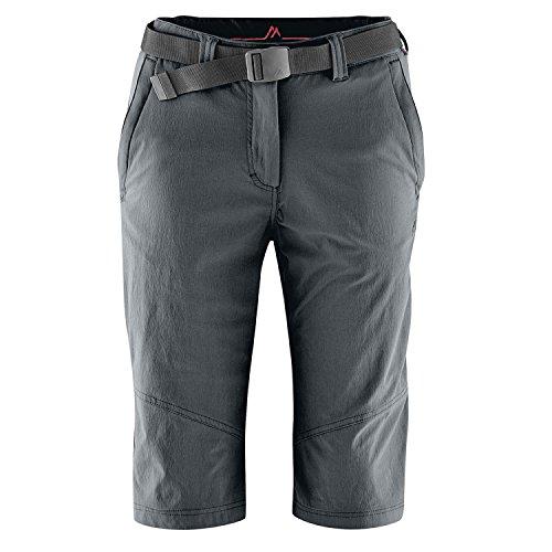 MAIER SPORTS Damen Bermuda Lawa aus 90% PA 10% EL in 25 Größen, Outdoorhose/ Funktionshose/ Shorts inkl. Gürtel, bi-elastisch, schnelltrocknend und wasserabweisend, Größe 46