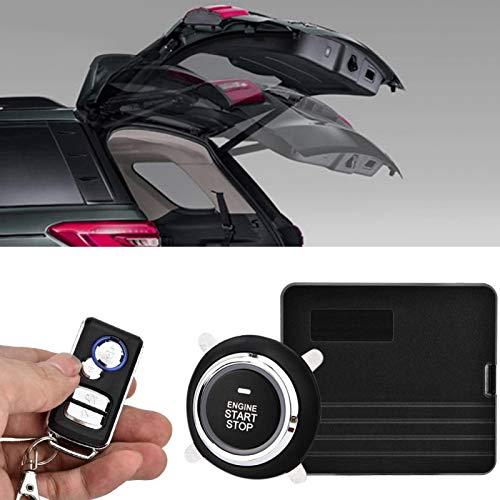 Interruptor de Control Remoto de Alarma de Coche Universal Puerta 433MHz Alarma de vibración antirrobo silenciosa Sistema de Seguridad de Coche(with No. 1 Key)