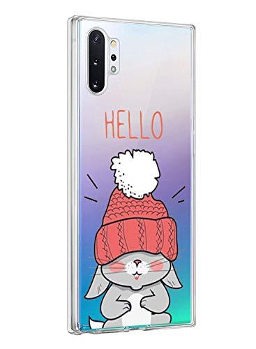 Oihxse ersatz für Galaxy Note 10 Hülle,Galaxy Note 10 Hülle Weiche Ultra Dünn Handyhülle Slim Silikon TPU Transparent Gel Soft Clear Kratzfeste Stoßfest Premium Schutzhülle (4G)