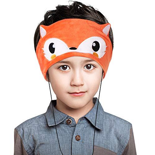 Homelove Kinder-Kopfhörer, extra dünn, verstellbar, 0,8 Zoll Lautsprecher, weiches Fleece, Stirnband A-Wired-Fox-2