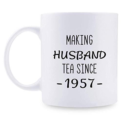 N\A 62 Boda 62 para Pareja, 62 años Taza de café Divertida de 11 oz para Esposo, Esposo, él, Haciendo té para Esposo