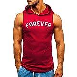 Kobay Débardeur Homme Musculation Gilet Homme Tee Shirt sans Manches Shirt Vetement Musculation Homme Imprimé T-Shirt Top Grande Taille Camisole Blouse Debardeur Gym