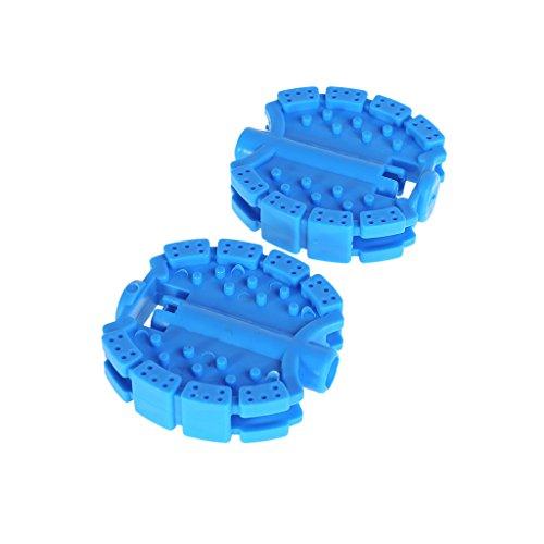 1 par de pedales de bicicleta para niños, herramientas de repuesto antideslizantes para bicicleta azul