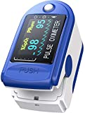 Ossimetro da Dito,Pulsossimetro da Dito Professionale, Sensore Digitale di Ossigeno Nel Sangue e...