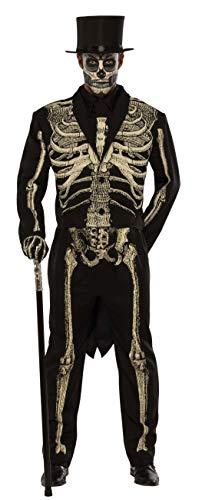 Pizazz! Men's Adult Dead Bones Costume, Black/White, 2XL