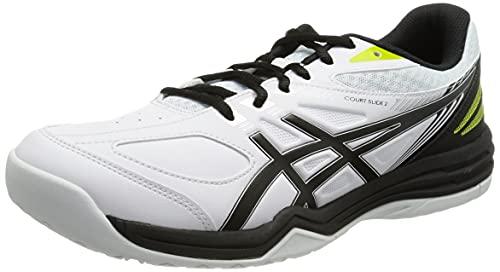 [アシックス] テニスシューズ COURT SLIDE 2 オールコート 100(ホワイト/ブラック) 23 cm