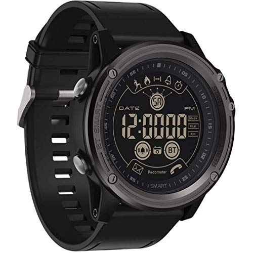 CIGONG Smart Montre Hommes Femmes Sport Smart Montre étanche Bluetooth 4.0 Télécommande d'appel SMS Rappel Tracker d'activité Smart Bracelet (Color : Black)